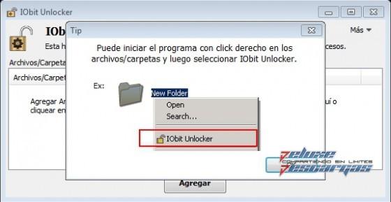 Resultado de imagen de iobit unlocker boton derecho